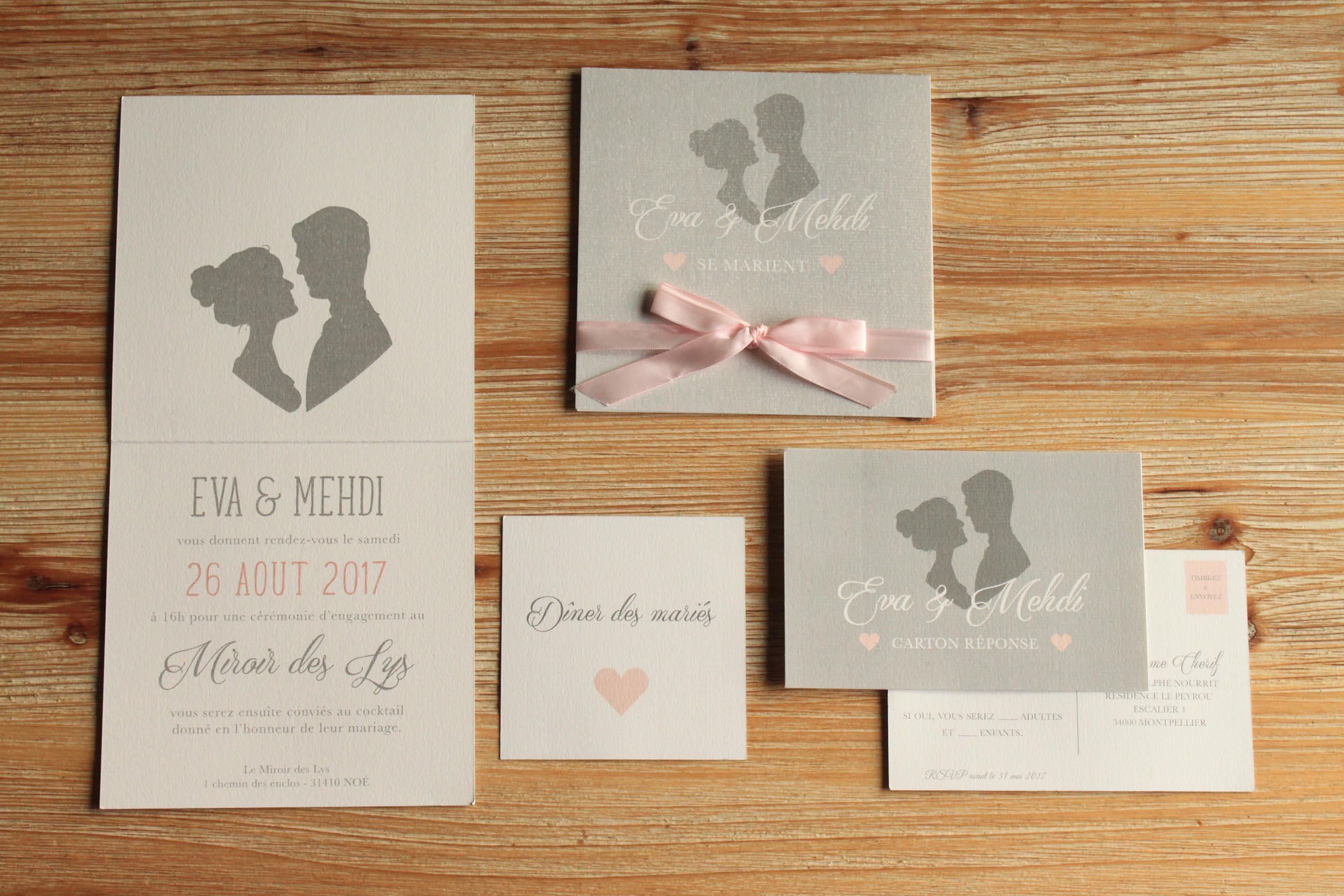 Extrêmement Faire-part mariage Archives | Le Comptoir du Bonheur by Vincelie SS27