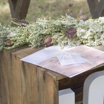 création de faire-part papeterie jour j domaine de beyssac mariage champetre auterive