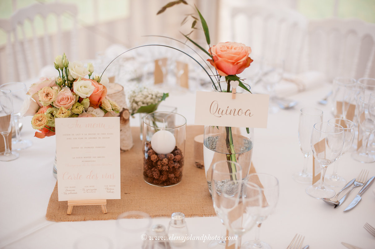 mariage champetre campagne faire-part papeterie rose blanc
