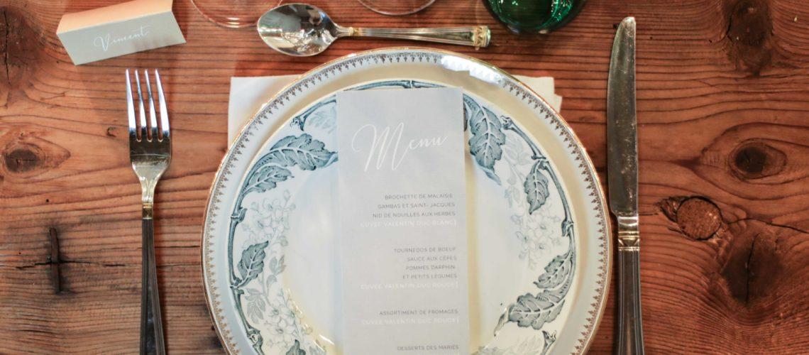 mariage vintage bleu beige vert faire-part papeterie toulouse