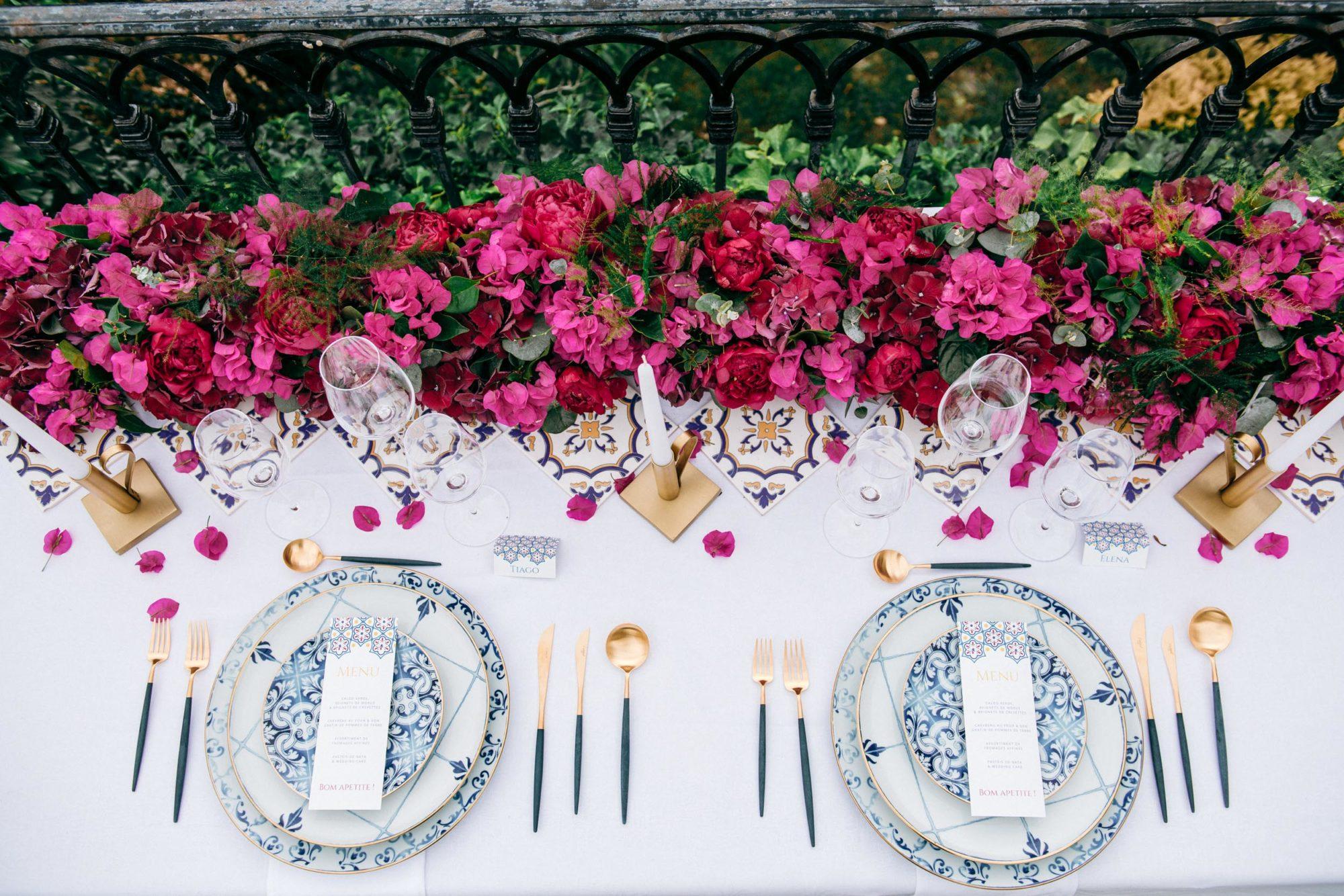 Papeterie mariage thème Portugal Azulejos