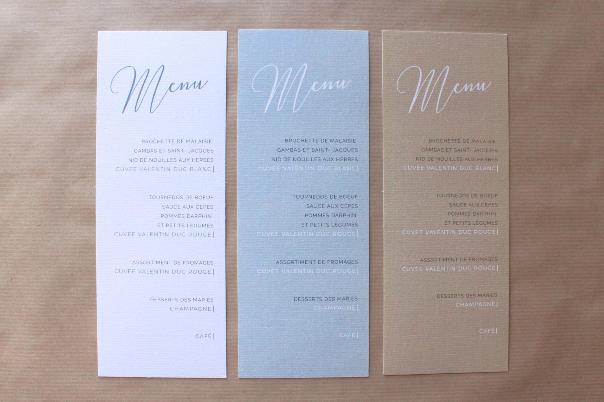 Faire-part mariage minimaliste élégant chic épuré