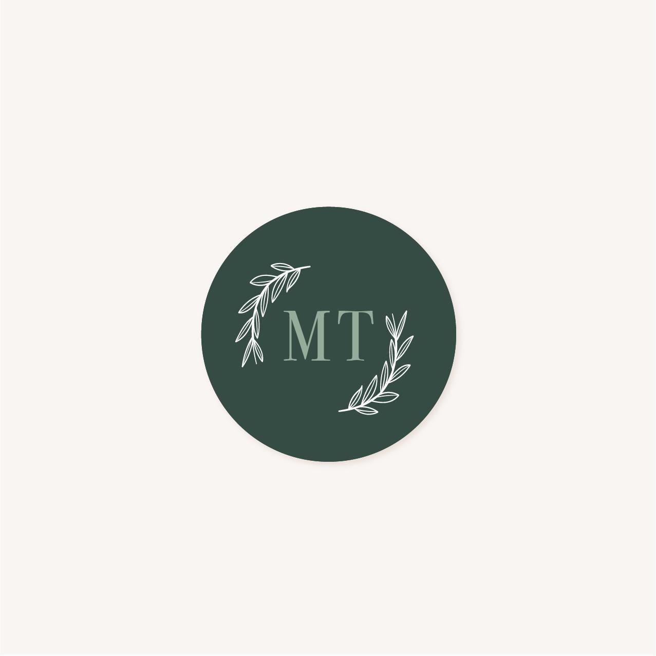 Étiquette faire-part vert minimaliste végétal nature faire-part mariage