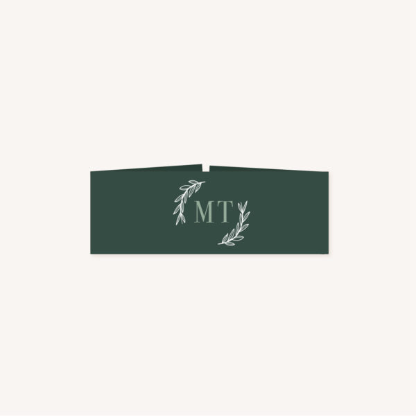 Bandeau faire-part vert minimaliste végétal nature faire-part mariage