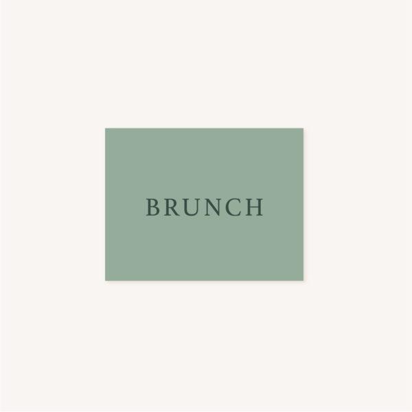 Carton brunch faire-part vert minimaliste végétal nature faire-part mariage