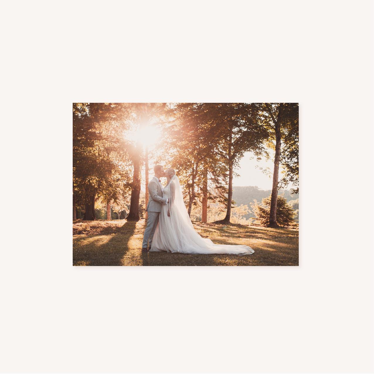 Remerciements vert minimaliste végétal nature faire-part mariage