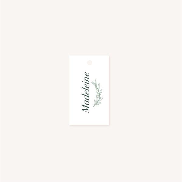 Marque place vert minimaliste végétal nature faire-part mariage