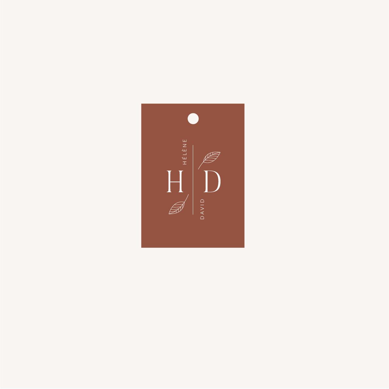 Étiquette mariage Terracotta brique blush