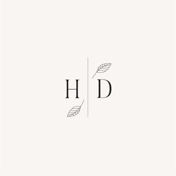 Tampon initiales personnalisé mariage Terracotta brique blush
