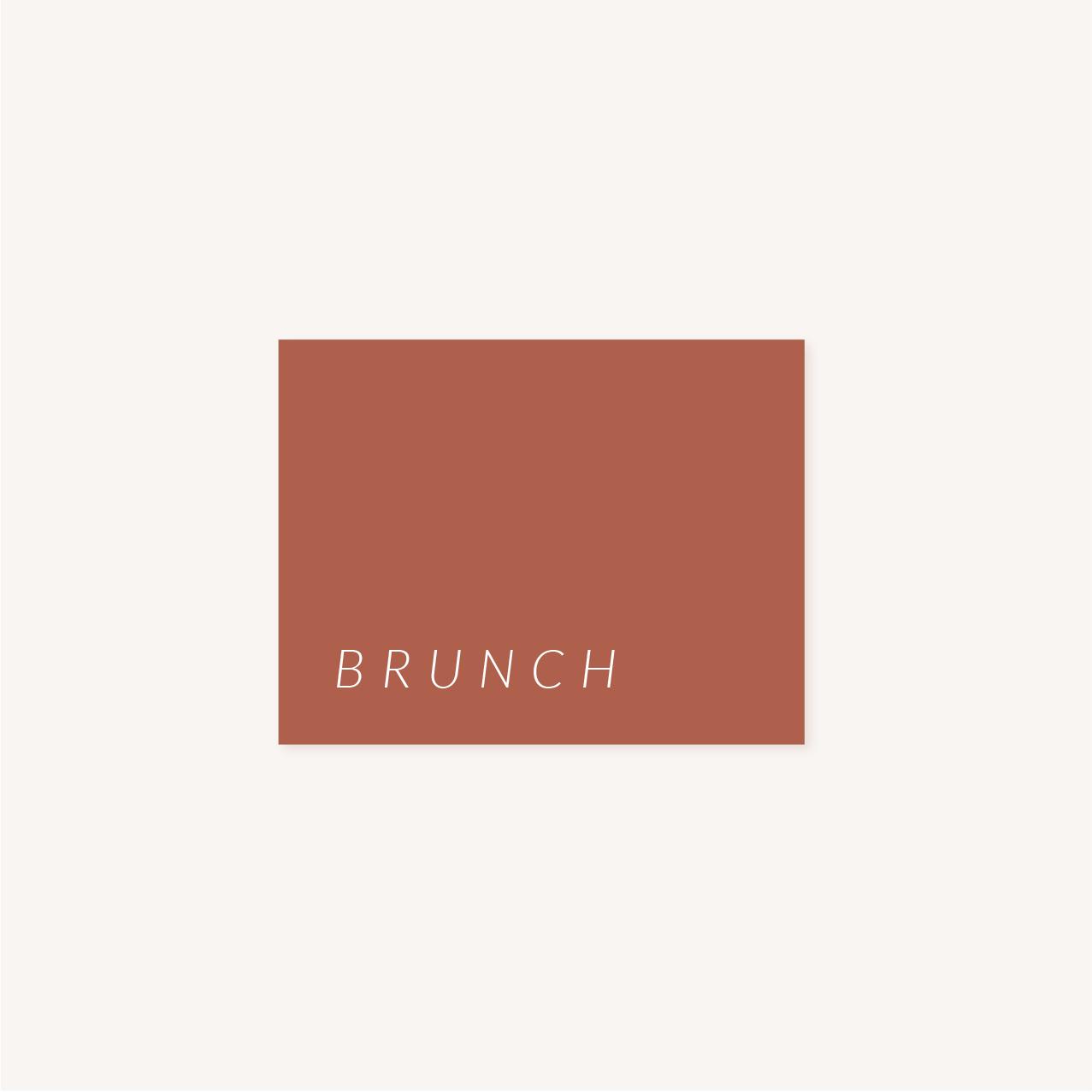 carton brunch mariage Terracotta brique blush
