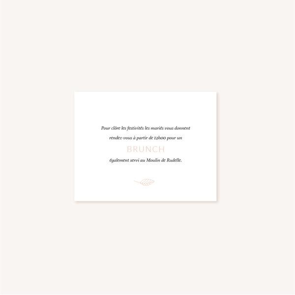 carton diner mariage Terracotta brique blush
