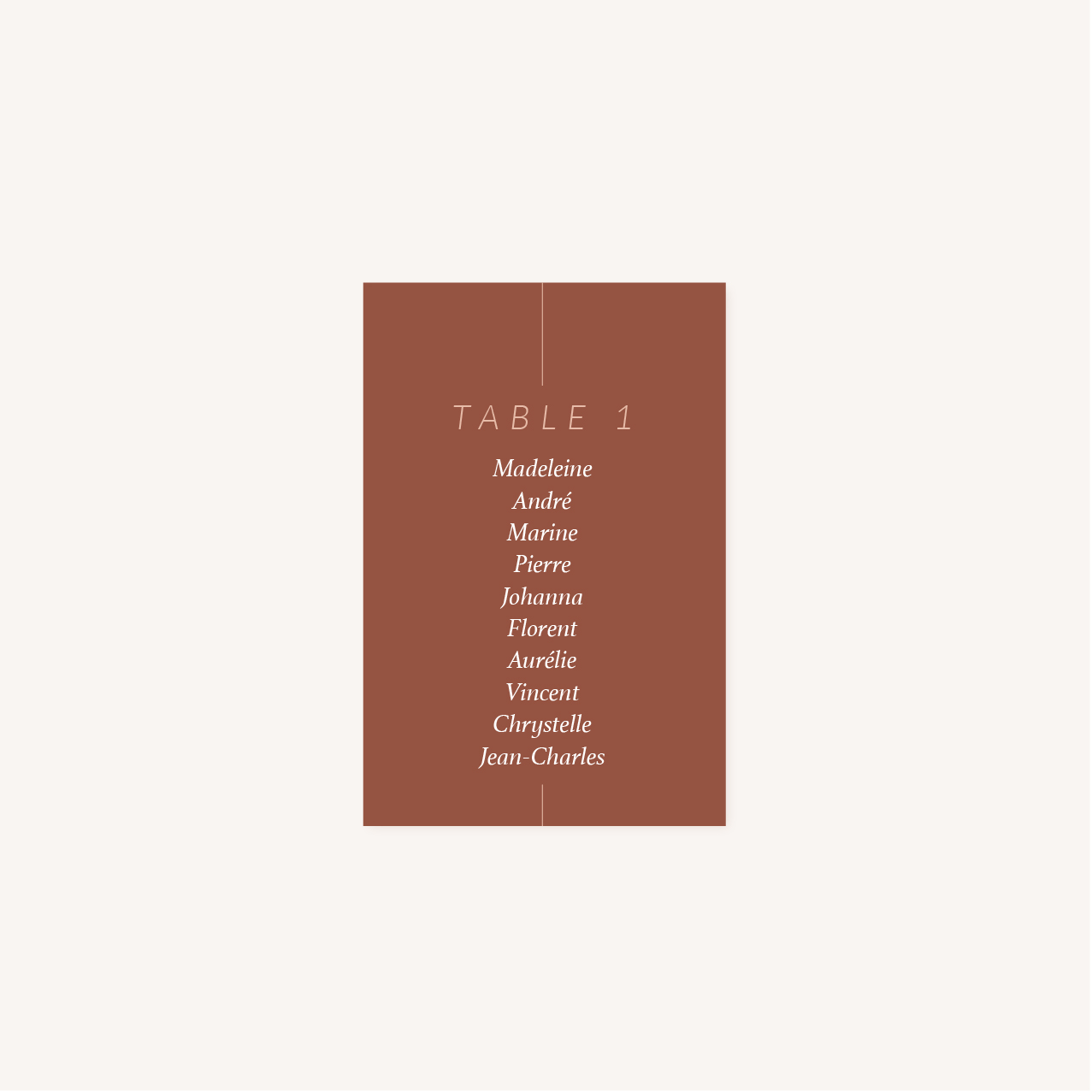 Plan de table mariage Terracotta brique blush