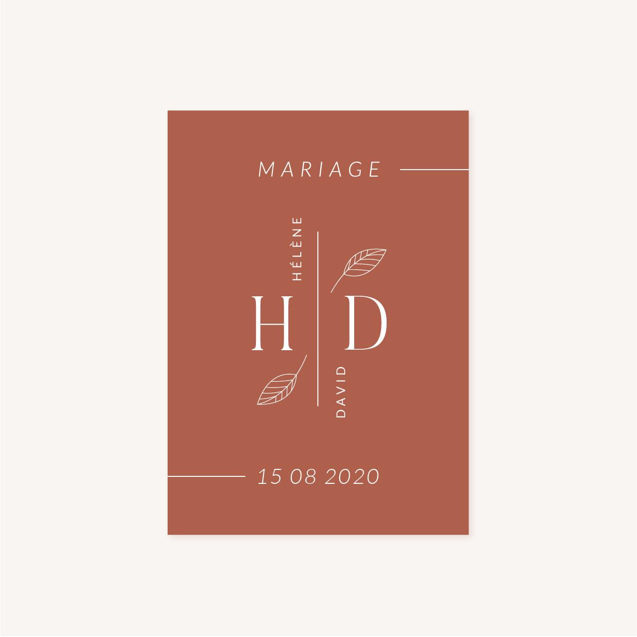Livret de cérémonie mariage Terracotta brique blush