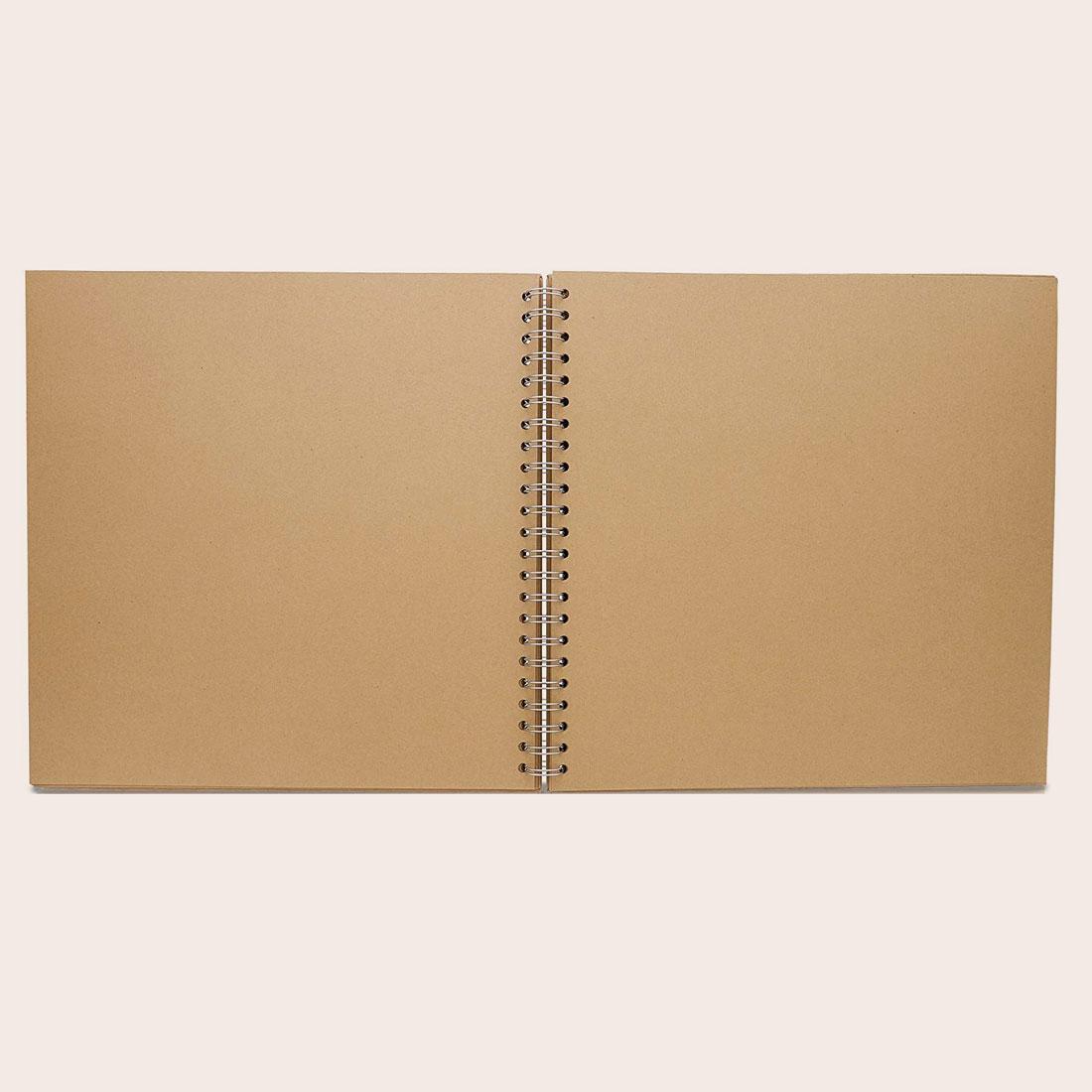 Livre d'or kraft mariage personnalisé livre d'or papier kraft