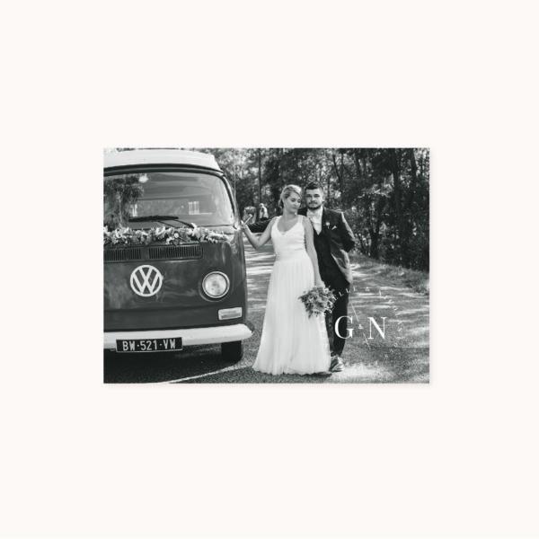 Remerciements faire-part mariage industriel kraft ardoise mariage industriel