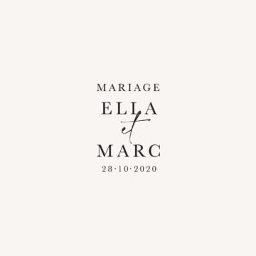 Tampon personnalisé mariage élégant chic romantic neutral épuré bordeaux rose nude blanc