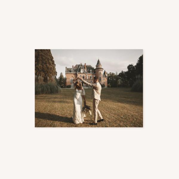 Faire-part mariage élégant chic romantic neutral épuré bordeaux rose nude blanc