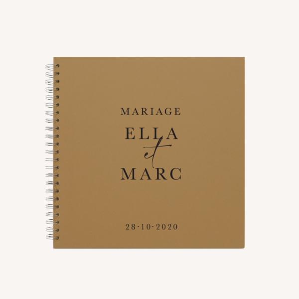 Livre d'or mariage élégant chic romantic neutral épuré bordeaux rose nude blanc