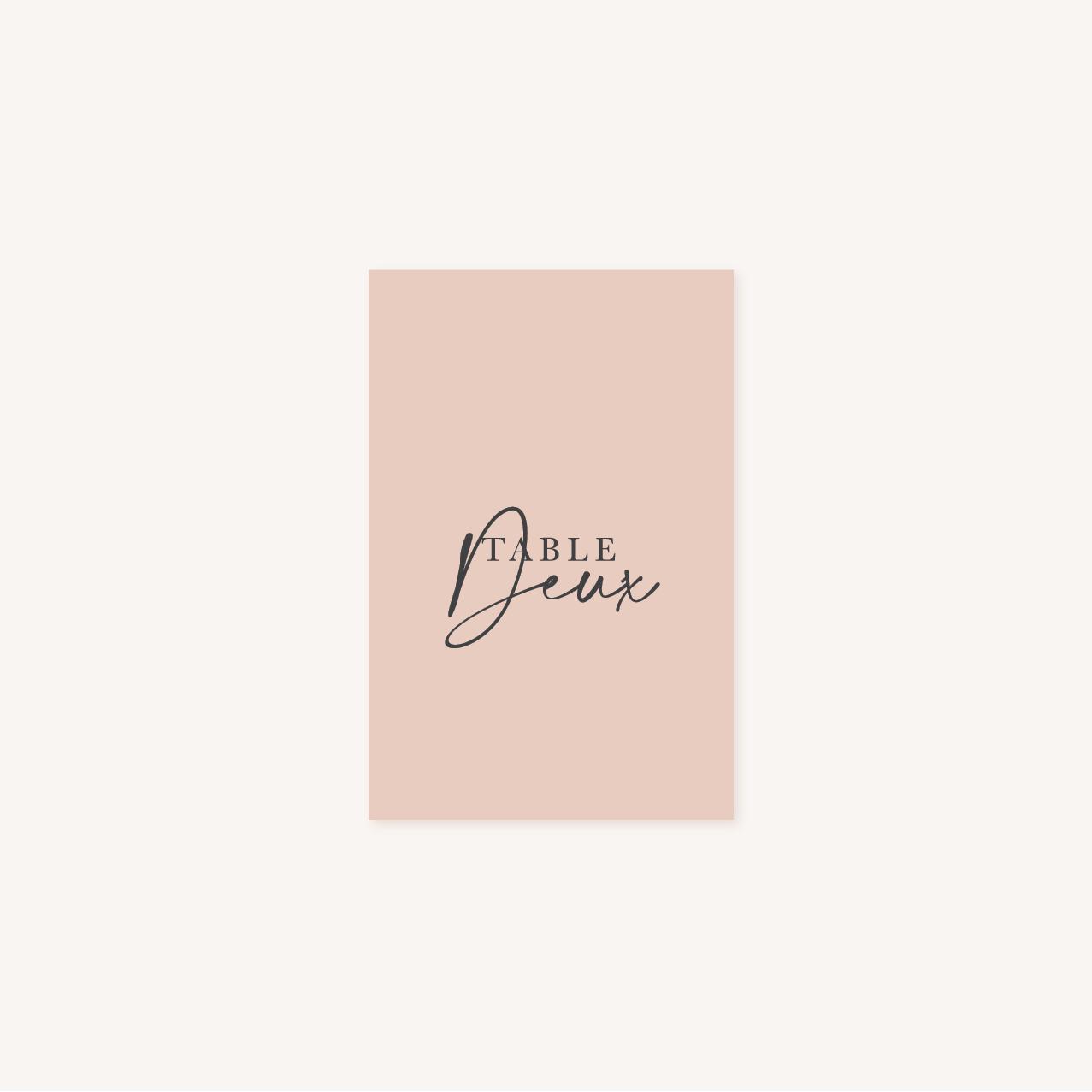 Nom de table mariage élégant chic romantic neutral épuré bordeaux rose nude blanc
