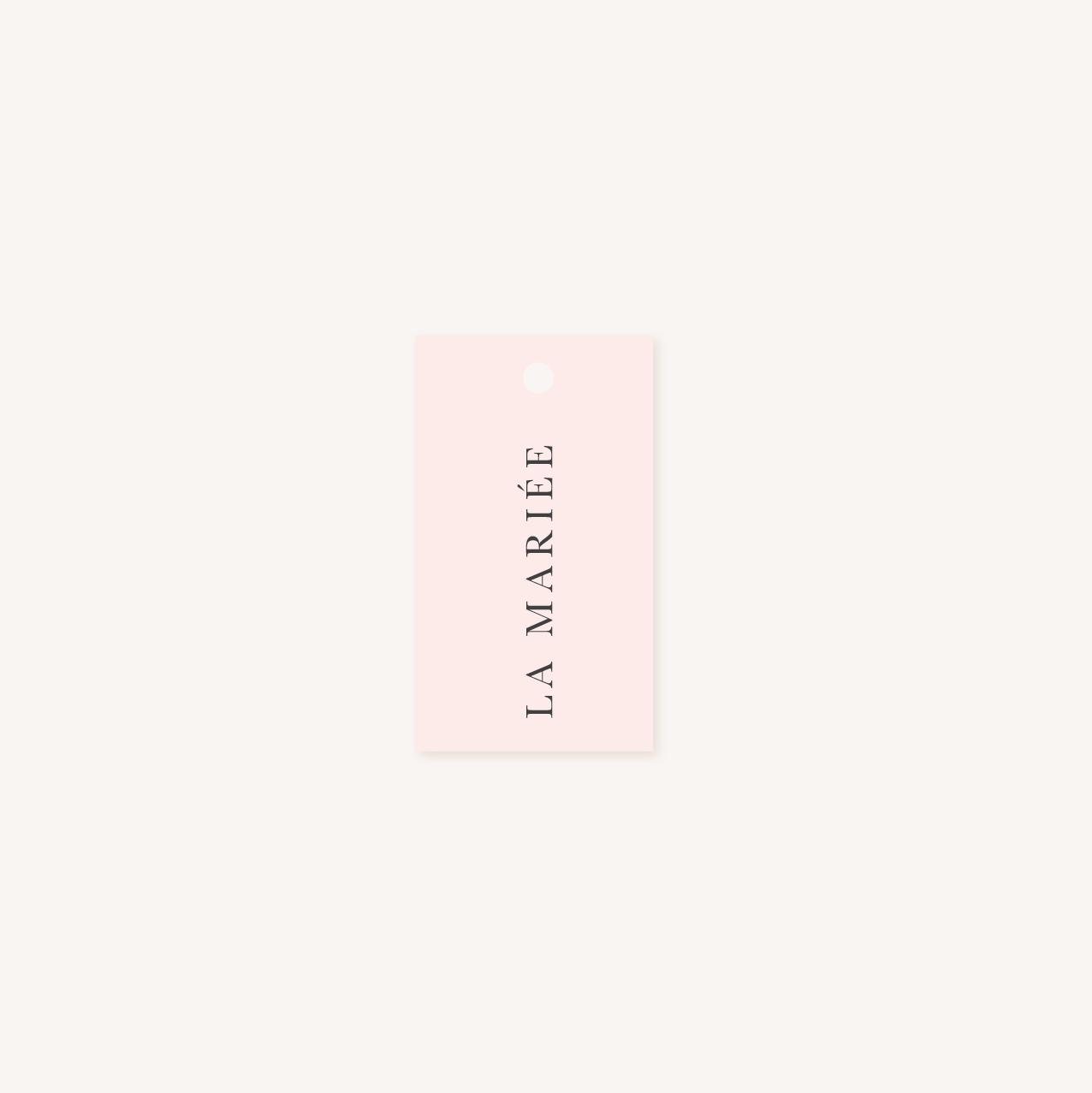 Étiquette prénom marque-place mariage élégant chic romantic neutral épuré bordeaux rose nude blanc