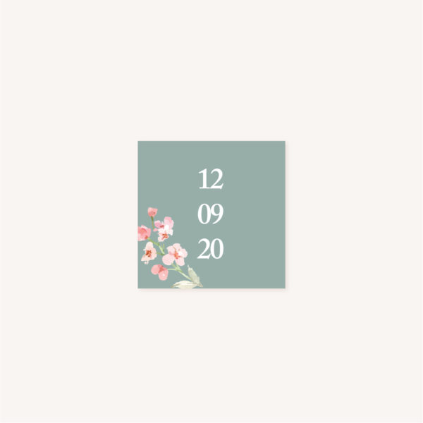 Étiquette adhésive Faire-part mariage floral fleurs jardin anglais