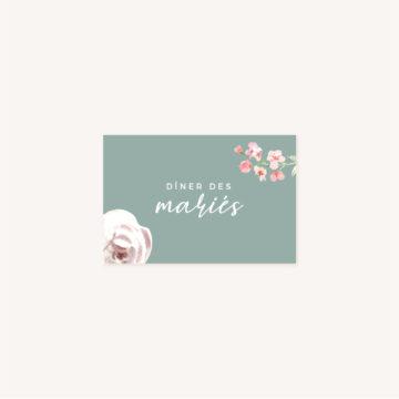 Carton dîner Faire-part mariage floral fleurs jardin anglais