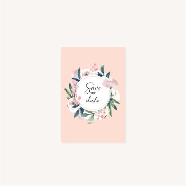 Save the date Faire-part mariage floral fleurs jardin anglais