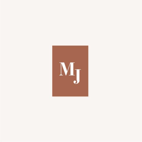 Étiquette adhésive mariage abstrait boho sahara couleur sable terracotta beige désert
