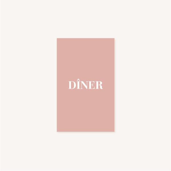 Carton dîner mariage abstrait boho sahara couleur sable terracotta beige désert