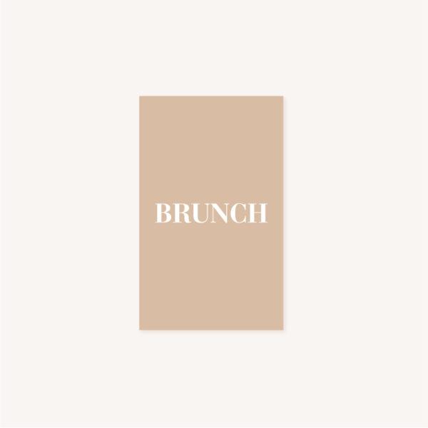 Carton brunch mariage abstrait boho sahara couleur sable terracotta beige désert
