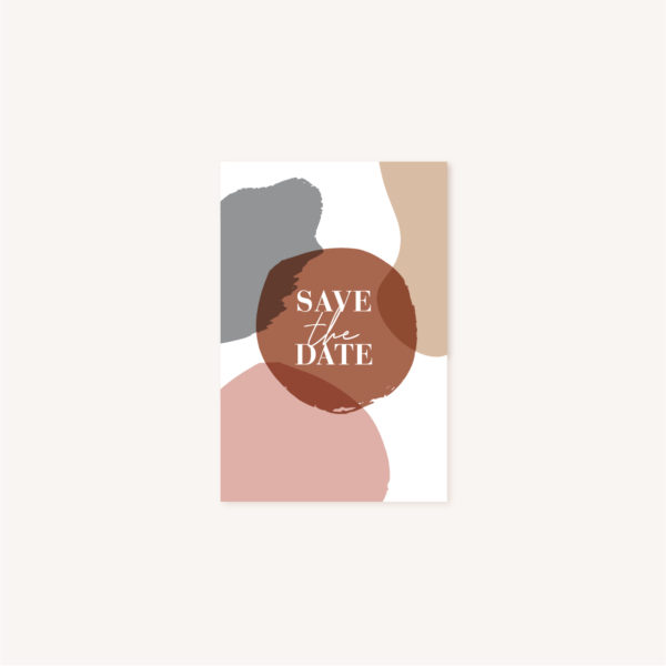 Save the date mariage abstrait boho sahara couleur sable terracotta beige désert