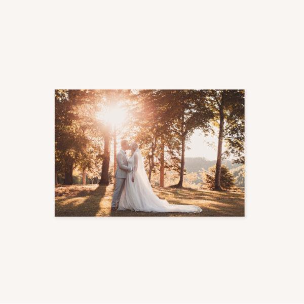 Photo remerciements mariage abstrait boho sahara couleur sable terracotta beige désert