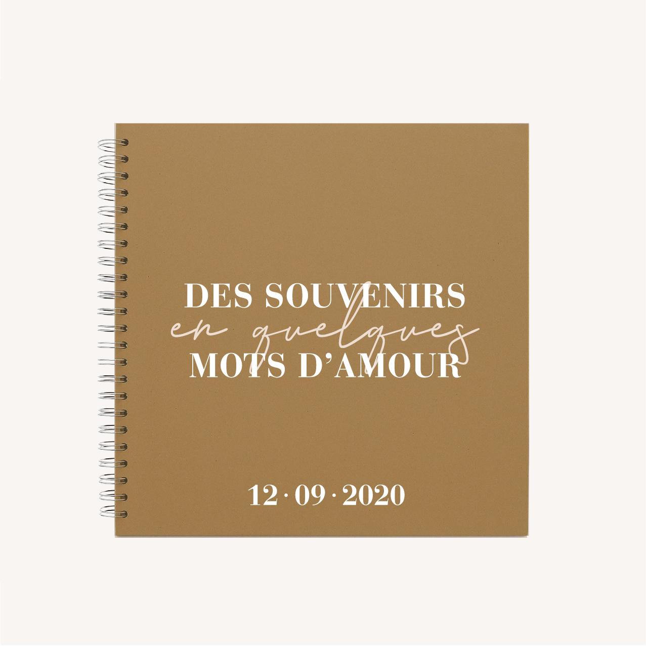 livre d'or mariage abstrait boho sahara couleur sable terracotta beige désert