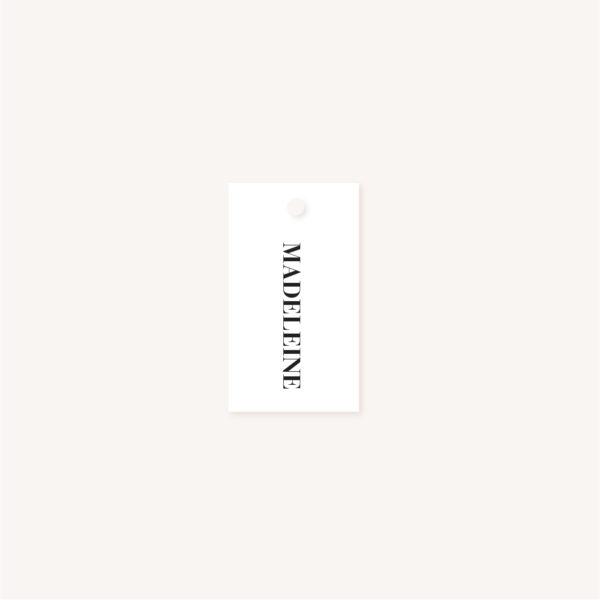 Étiquette nom blanc mariage abstrait boho sahara couleur sable terracotta beige désert