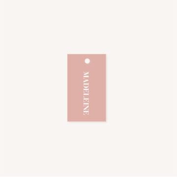 Étiquette nom rose mariage abstrait boho sahara couleur sable terracotta beige désert