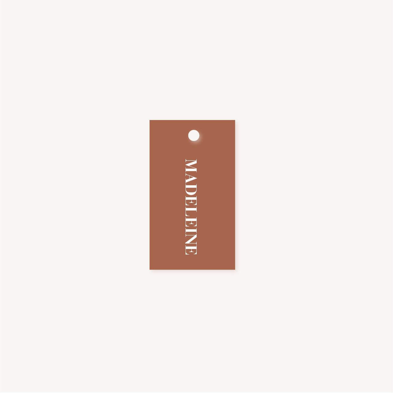Étiquette nom terracotta mariage abstrait boho sahara couleur sable terracotta beige désert