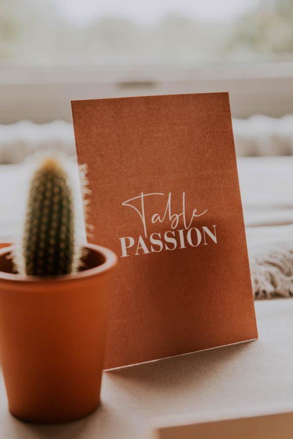 Plan de table mariage abstrait boho sahara couleur sable terracotta beige désert