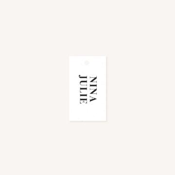 Étiquette papier mariage faire-part papeterie épuré noir blanc neutre unisexe élégant
