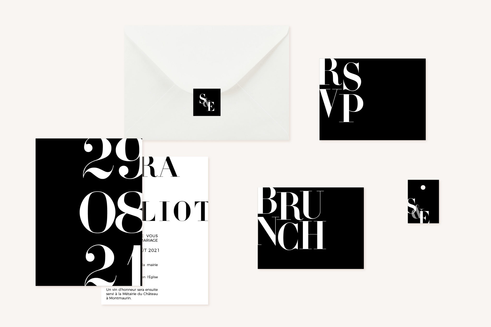 Collection black and white noir et blanc moderne lettering innovant graphique