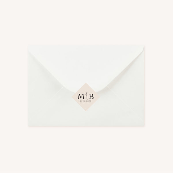 Enveloppe blanche mariage nude rose gris beige élégant sobre
