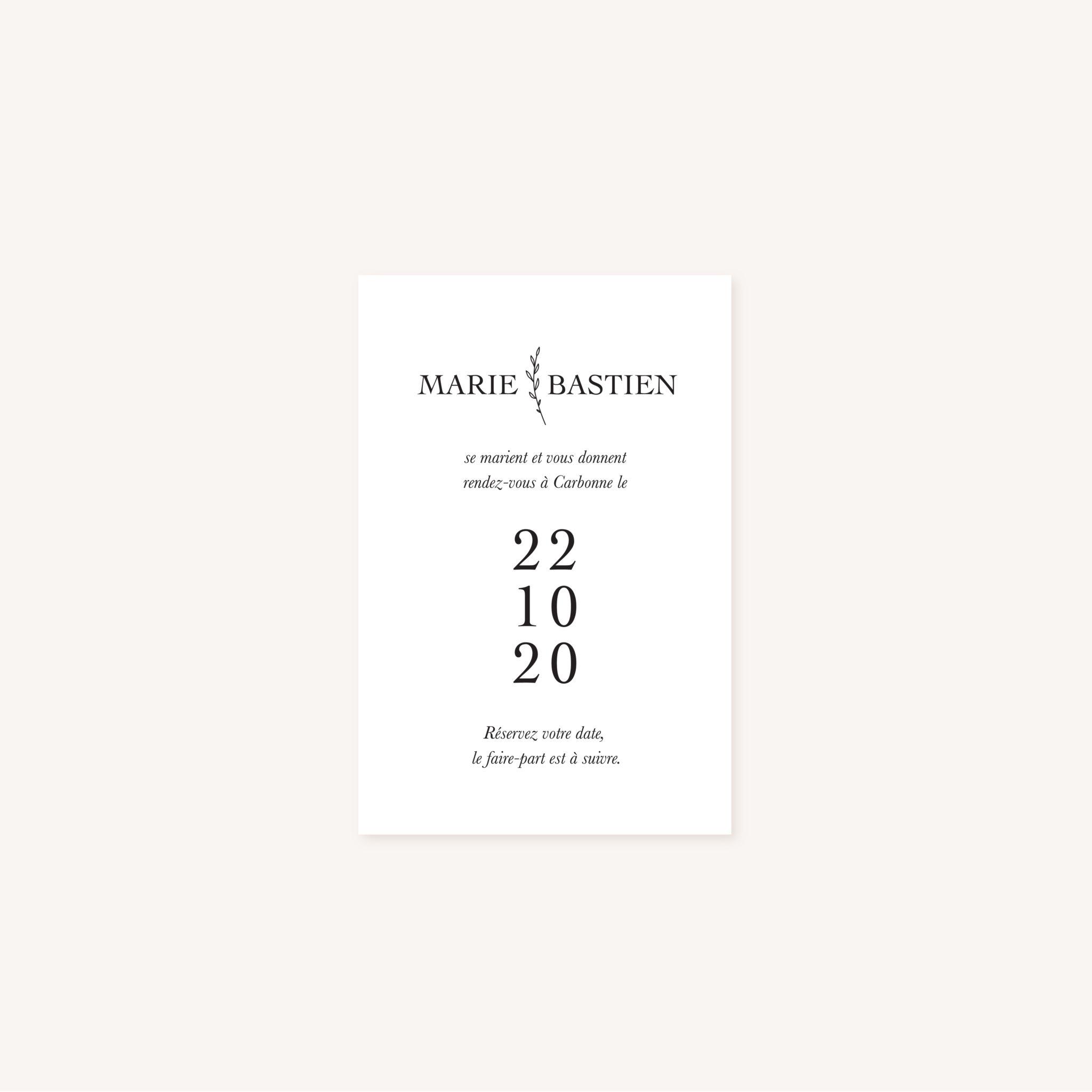 Save the date mariage nude rose gris beige élégant sobre