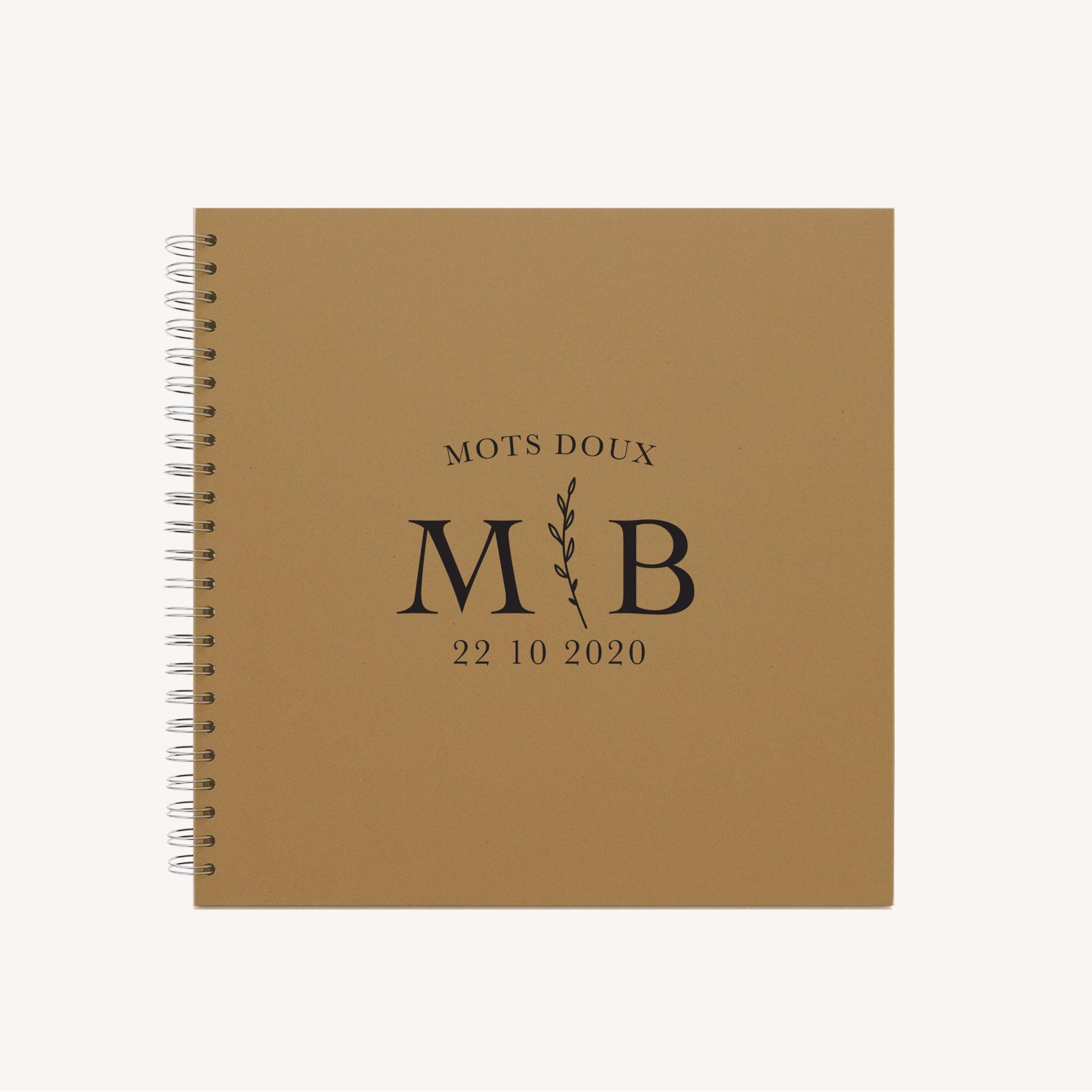 Livre d'or mariage nude rose gris beige élégant sobre