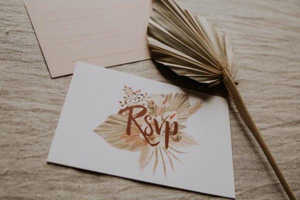 RSVP pampa bohème boho boho chic Fleurs séchées floral mariage ocre terracotta