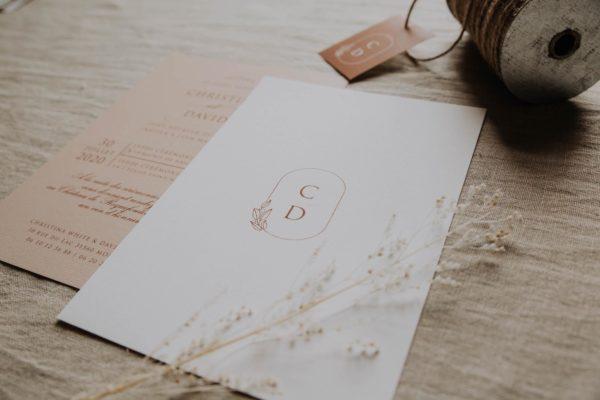 Faire-part pampa bohème boho boho chic Fleurs séchées floral mariage ocre terracotta