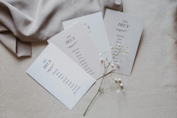 Plan table mariage nude rose gris beige élégant sobre