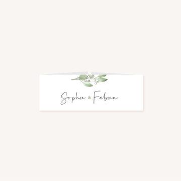 Bandeau mariage olivier nature blanc vert kraft