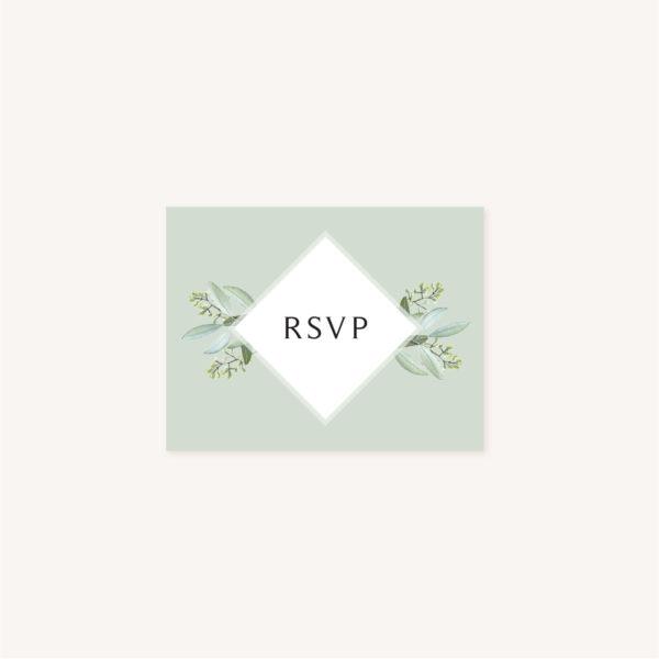RSVP mariage olivier nature blanc vert kraft