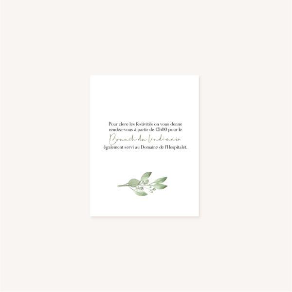Brunch mariage olivier nature blanc vert kraft