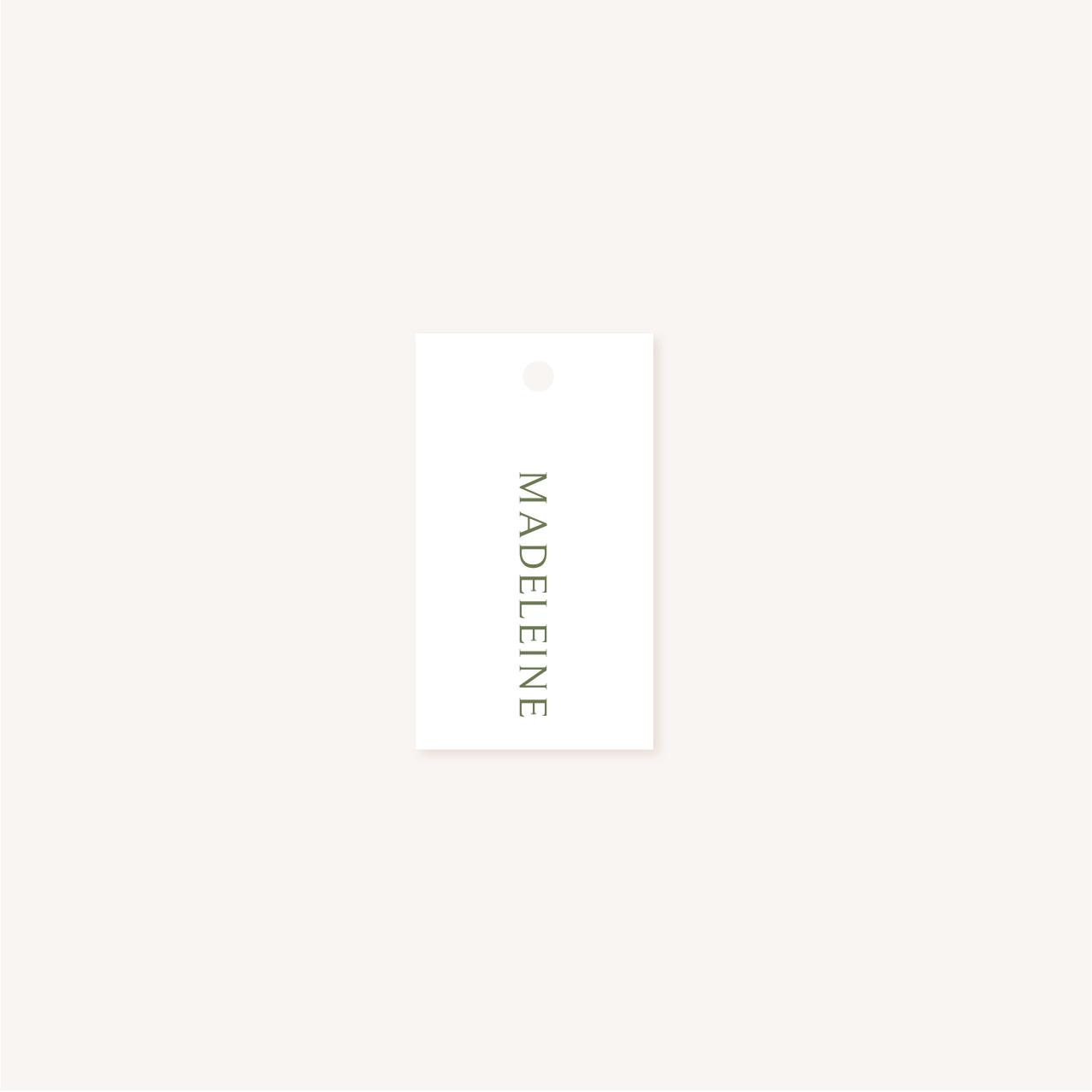 Étiquette nom mariage olivier nature blanc vert