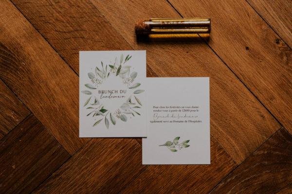 Brunch mariage olivier nature blanc vert kraft champêtre